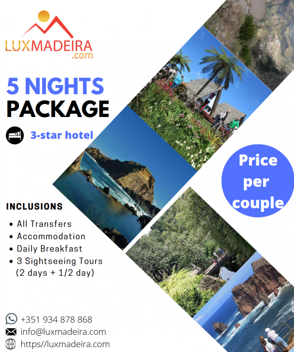5 nights x 3-star hotel - Madeira package