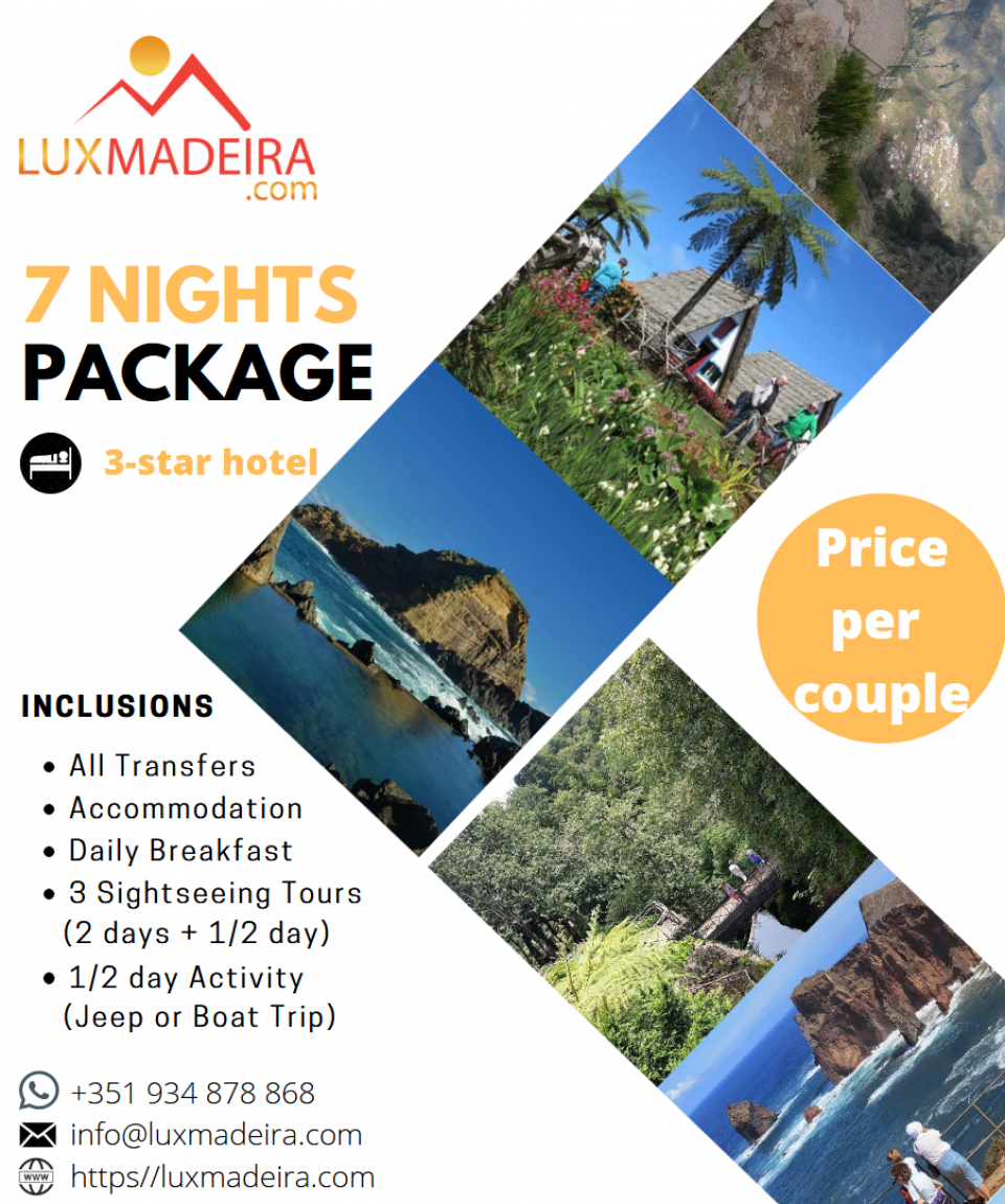 7 nights x 3-star hotel - Madeira package
